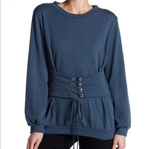 Lush corset sweatshirt NWT 💙